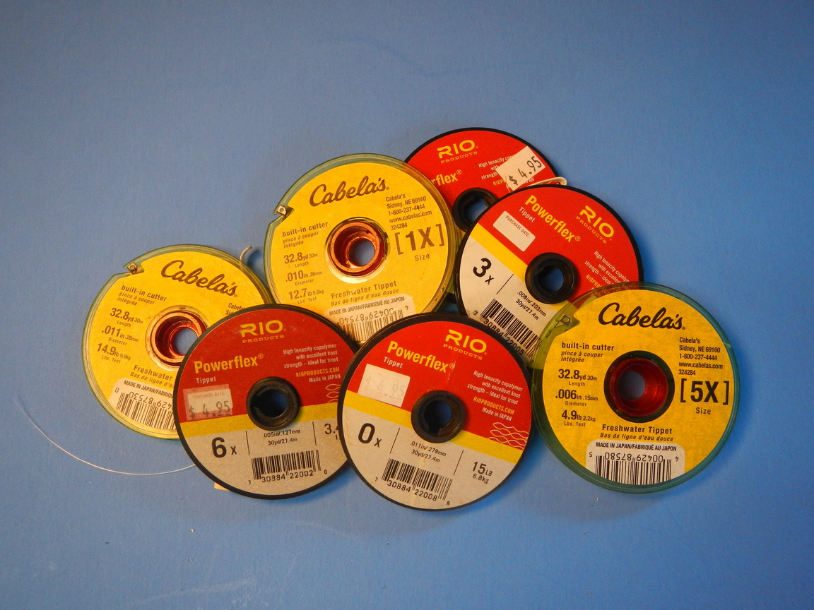 Stack of tippet spools
